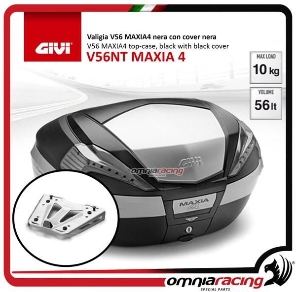 Rear top case kit Givi V56NT MAXIA 4 and plate BMW S1000XR 15>17