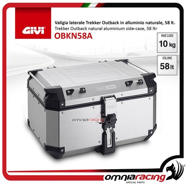 meilleure vente images officielles différemment GIVI OBKN58A bauletto top-case 58lt Monokey Trekker outback centrale in  alluminio