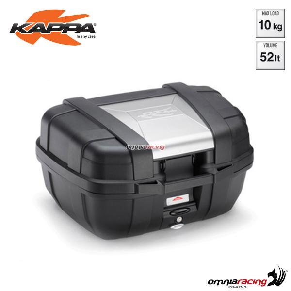 buona consistenza Nuovi Prodotti sito affidabile Kappa Kgr52 Garda - 52 Lt Black Monokey Case with Aluminium Colour ...