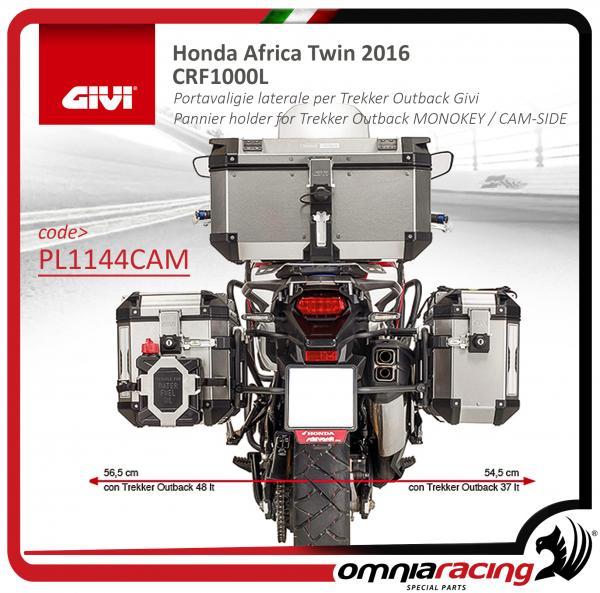 Portavaligie laterale per Trekker Outback per Honda CRF1000L Africa Twin PL1161CAM 18
