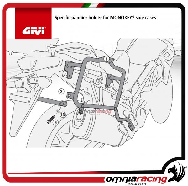 Givi fitting kit for MONOKEY side cases for Suzuki DL650 V-Strom 2017>