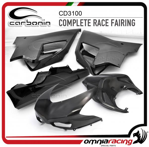 Carbonin Tcomplete Race Fairing In Carbon Fiber For Ducati 848 1098