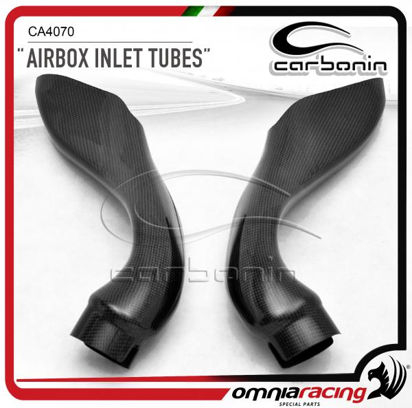 Carbonin CA4070 Air Box Inlet Tubes Race in Carbon Fiber for Aprilia RSV4 2009>2014