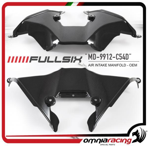 Fullsix Air Intake Manifold Cover Oem In Carbon Fiber For Ducati