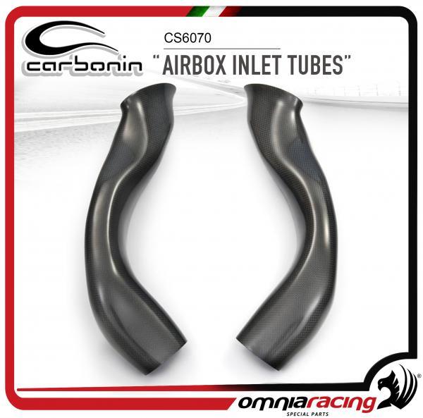 Carbonin Race Air Box Inlet Tubes in Carbon Fiber for Suzuki