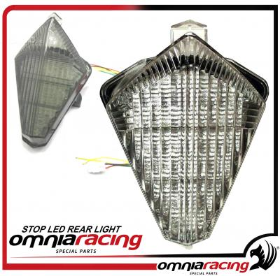 Stop Led Faro Posteriore Fume per Yamaha YZF 1000 R1 2007 07>08 / T Max 530 2012 12>