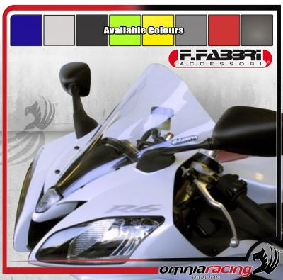 F.Fabbri Double Bubble Transparent Front Fairing Windscreen Yamaha YZF 600 R6 2006 06>07