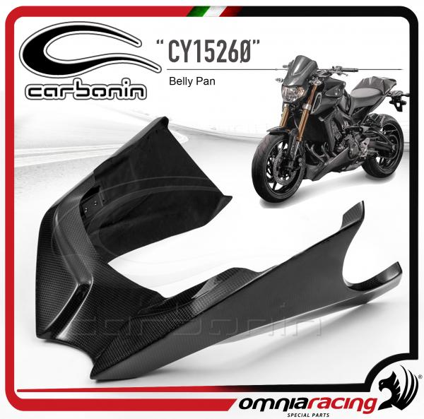 Carbonin CY15260 Glossy Carbon Fiber Belly Pan for Yamaha MT-09 / FZ-09 2013 13>