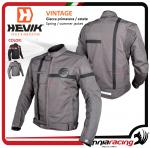 Hevik VINTAGE man jacket with homologated protection and removable thermal lining gray