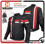 Hevik VINTAGE man jacket with homologated protection and removable thermal lining nero