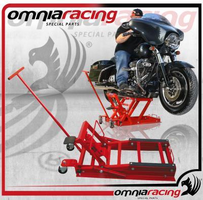 Cavalletto sollevatore pedana idraulica per moto custom e for Pedana alzamoto