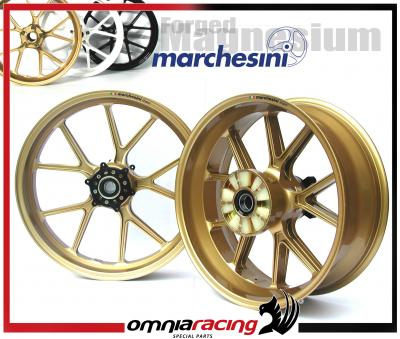 Pair Of Marchesini M10r Forged Magnesium Street Wheels Triumph