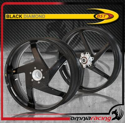 Bst Carbon Fiber Wheels Pair For Ducati Hypermotard 796 821 1100