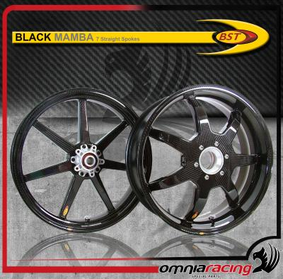 bst carbon fiber wheels pair for ducati multistrada 1200 black mamba