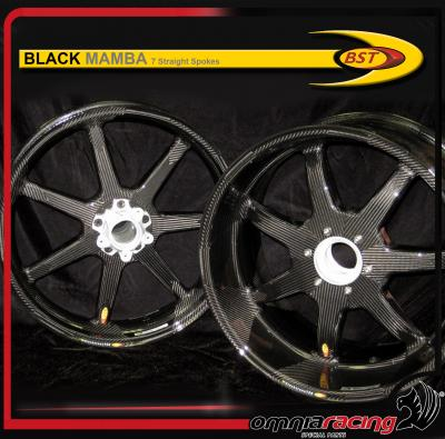Bst Carbon Fiber Wheels Pair For Ducati Diavel Black Mamba 7 Spoke