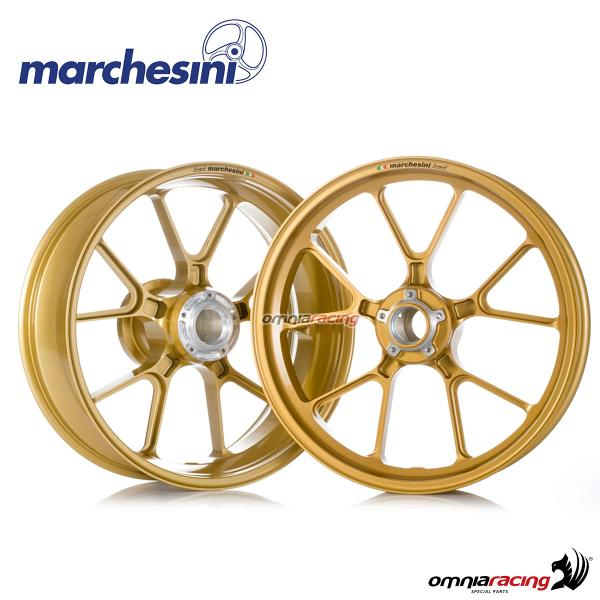 Pair of wheel Marchesini Corse M10RS forged magnesium Glossy black for Suzuki GSXR600/GSXR750 2011>