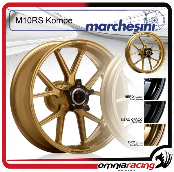 Cerchio Posteriore Marchesini M10Rs Kompe Alluminio Forgiato Ducati Monster 1000ie 03>05 Oro