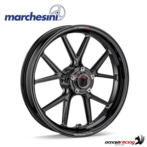 Marchesini Corse M10RS forged magnesium front wheel polished black for Suzuki GSXR600/GSXR750 2011>