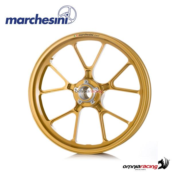 Marchesini Corse M10RS forged magnesium front wheel gold for Suzuki GSXR600/GSXR750 2011>