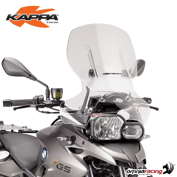 Cupolino Kappa scorrevole Airstream trasparente specifico per BMW F700GS 2013>2017