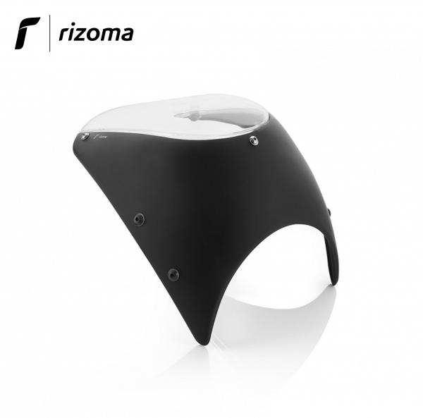 Rizoma low headlight fairing aluminium black for Harley Davidson Sportster XL1200X Forty Eight 18>