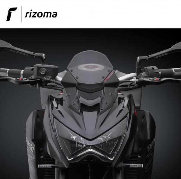 Rizoma Black Windscreen Headlight Fairing For Kawasaki Z800 2013