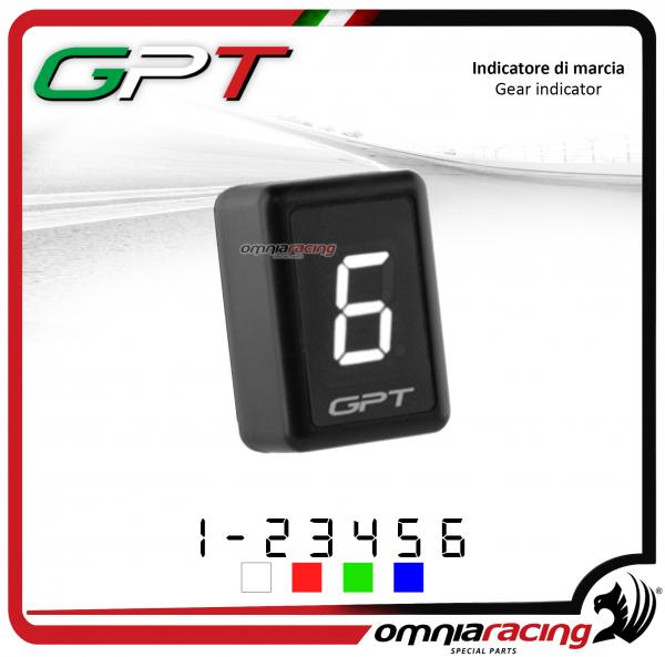 Contamarce GPT plug & play indicatore di marcia in abs colore bianco per Yamaha FZ6 NO ABS 1998>2010