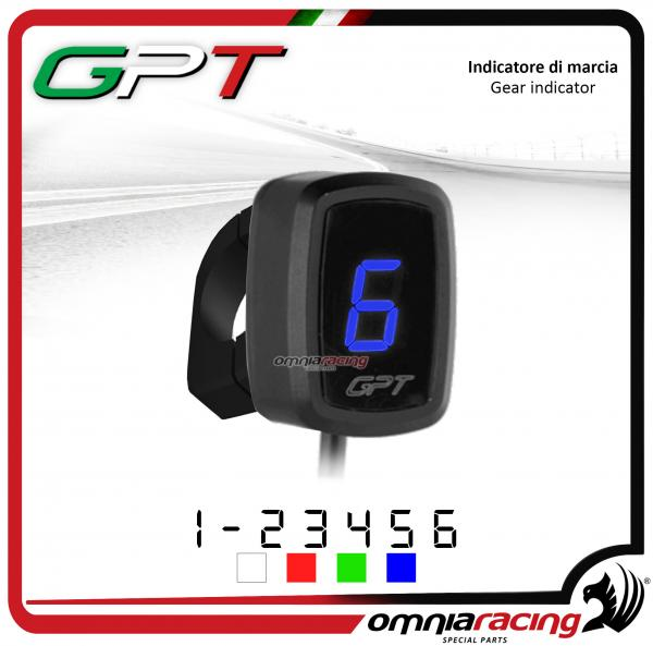 Contamarce GPT plug & play indicatore di marcia blu con supporto Honda NC700X/S NO ABS 2012>2014