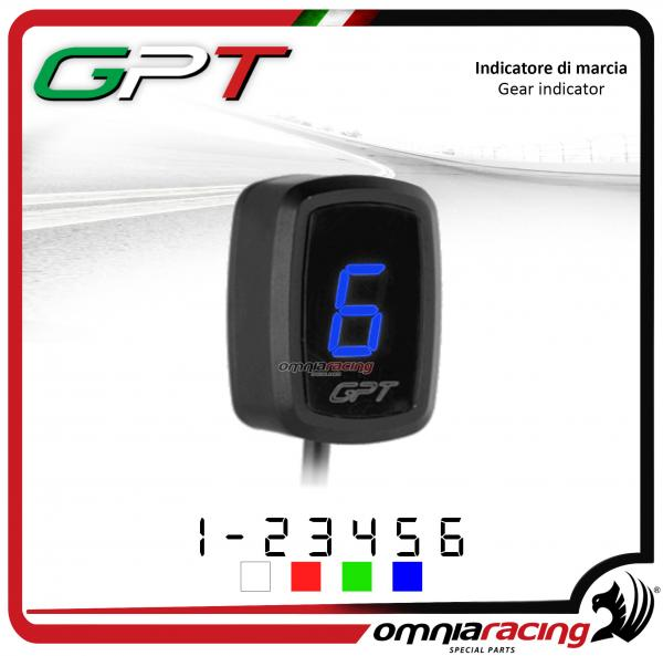 Contamarce GPT plug & play indicatore di marcia colore blu per Honda NC700X/S NO ABS 2012>2014