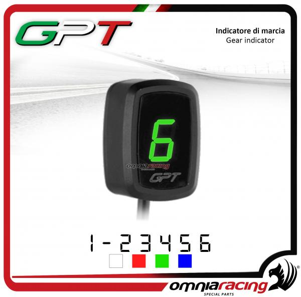 Contamarce GPT plug & play indicatore di marcia colore verde per Honda NC700X/S NO ABS 2012>2014
