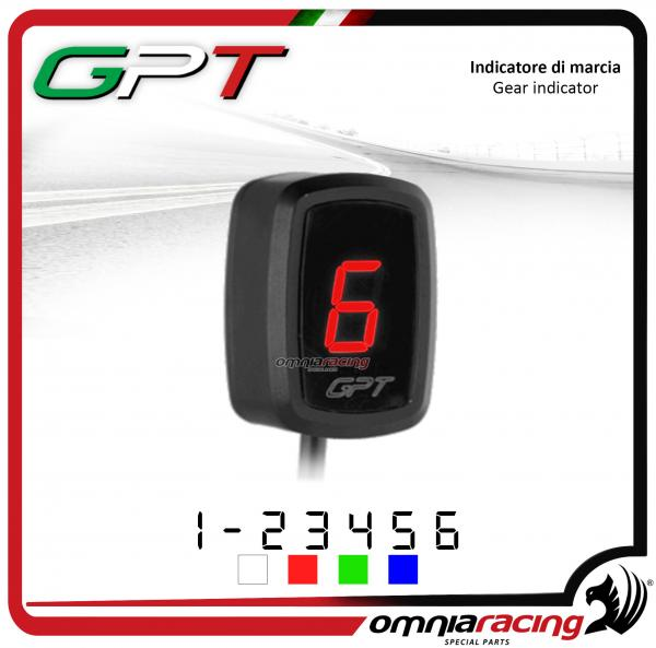 Contamarce GPT plug & play indicatore di marcia colore rosso per Yamaha YZF R1 1998>2013