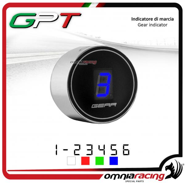 Contamarce GPT plug & play indicatore di marcia argento led blu Honda NC700X/S NO ABS 2012>2014