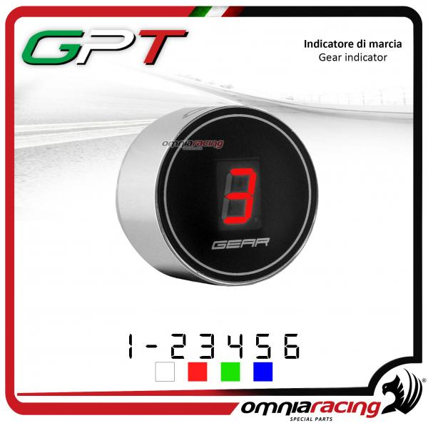 Contamarce GPT plug & play indicatore di marcia argento led rosso per Yamaha FZ6 NO ABS 1998>2010