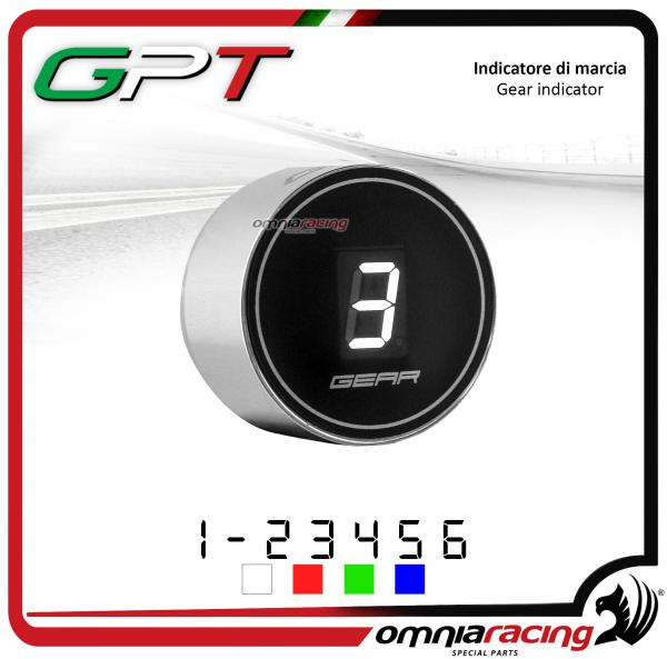 Contamarce GPT plug & play indicatore di marcia argento led bianco Honda NC700X/S NO ABS 2012>2014