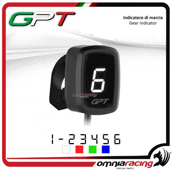 Contamarce GPT plug & play indicatore di marcia bianco con supporto Honda NC700X/S NO ABS 2012>2014