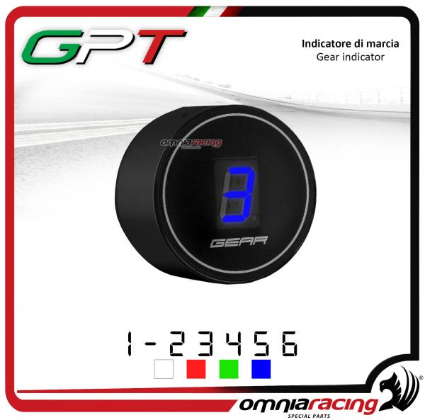 Contamarce GPT plug & play indicatore di marcia nero led blu Honda NC700X/S NO ABS 2012>2014
