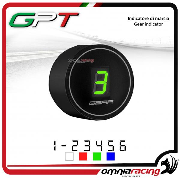 Contamarce GPT plug & play indicatore di marcia nero led verde Honda NC700X/S NO ABS 2012>2014