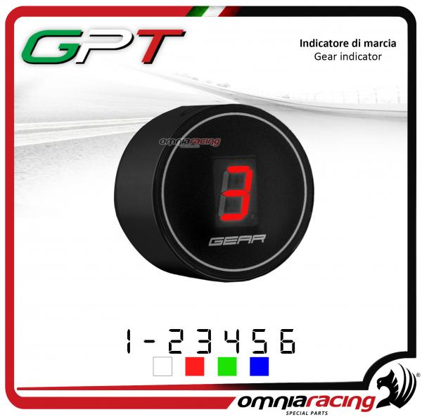Contamarce GPT plug & play indicatore di marcia nero led rosso Honda NC700X/S NO ABS 2012>2014