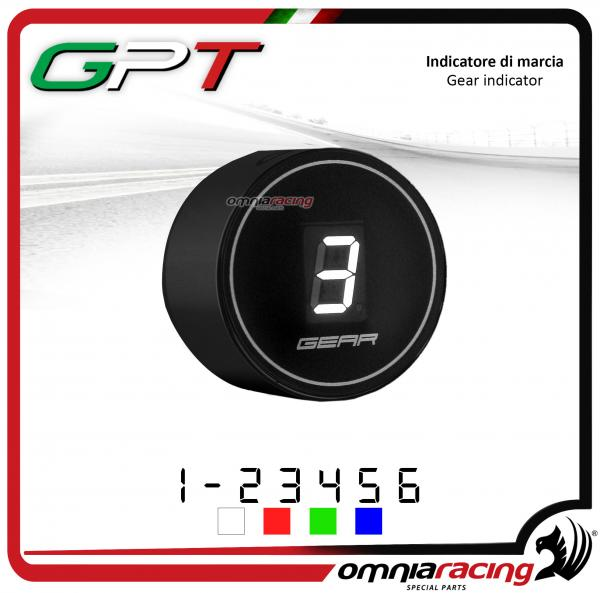 Contamarce GPT plug & play indicatore di marcia nero led bianco Honda NC700X/S NO ABS 2012>2014