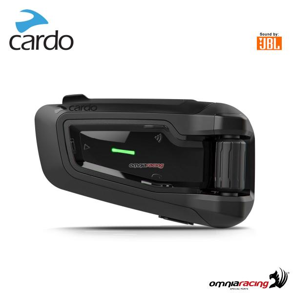 Cardo scala rider PACKTALK BLACK sound JBL interfono conference DMC con 15 motociclisti 1.6KM nero