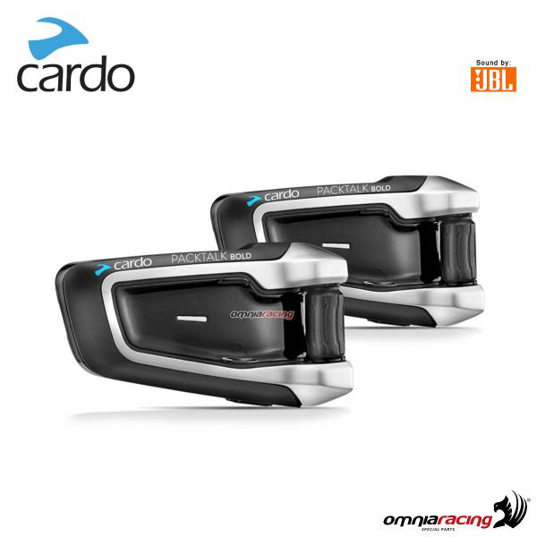 Cardo scala rider PACKTALK BOLD sound JBL duo Interfono conference DMC 15 motociclisti 1.6 KM doppi