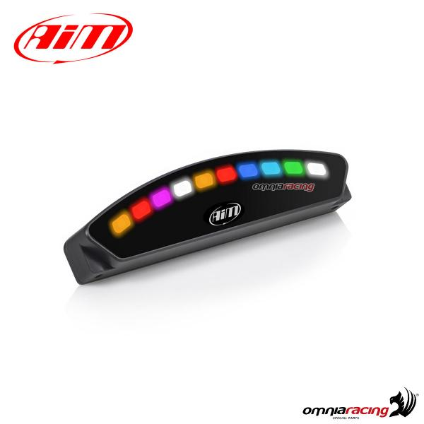 AIM Shift Light Module visualizzatore a Led RGB configurabile per RPM e allarmi