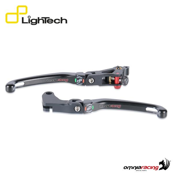 Kit coppia leve freno Lightech leva snodata tipo J per Yamaha Tmax 500/530 2008>