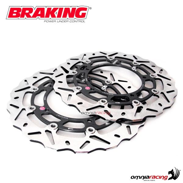Braking front wave floating discs couple for Yamaha Tmax560 2020>