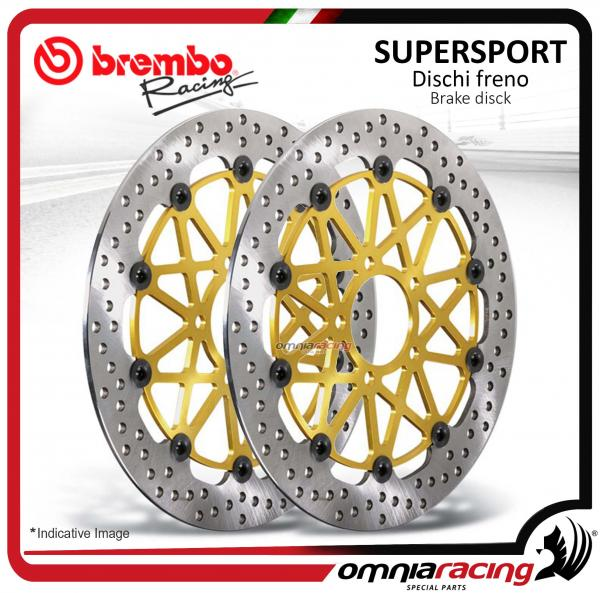 Coppia dischi freno anteriori Brembo Supersport da 310mm per Kawasaki ZX10R/ ABS 2008>2016