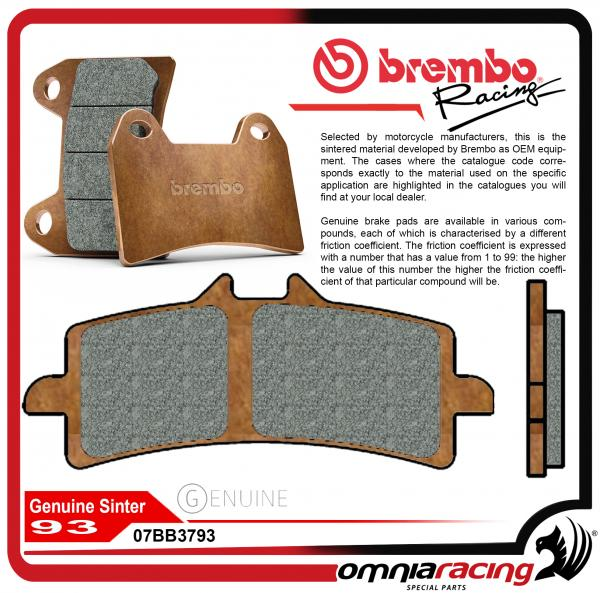 Pair of Brembo 93 OEM Genuine Carbon Ceramic Front Brake Pads for BMW  S1000RR HP4 2013 13>