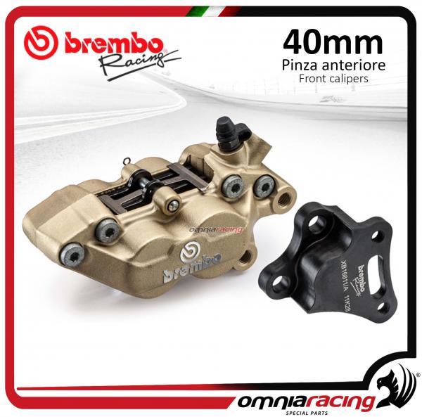 Brembo Racing - P4 30/34 40mm Forged Axial Left Caliper Kit with Bracket  Kawasaki Ninja 250 / 300
