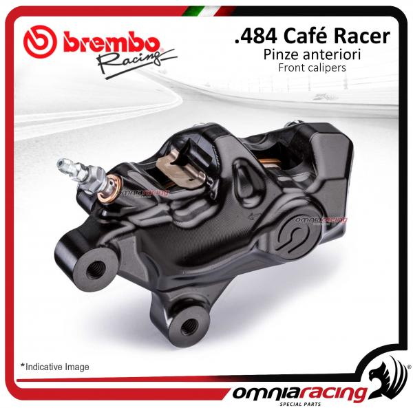 Brembo Racing pinza freno sinistra (SX) assiale CNC .484 cafe racer interasse 69,1mm logo nero
