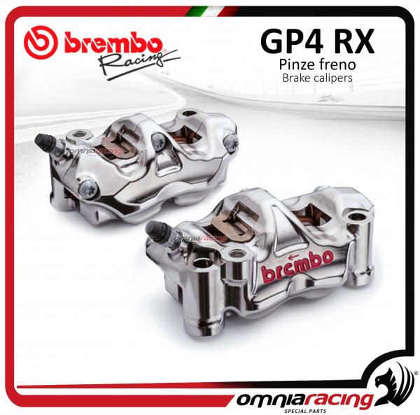 Brembo Racing coppia pinze radiali Ricavate CNC GP4RX P4 32 108mm (SX+DX) con pastiglie