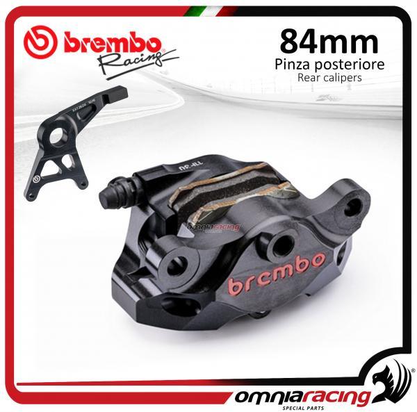 Brembo Racing CNC P4 34 84mm black Supersport rear billet brake caliper  with bracket for Honda